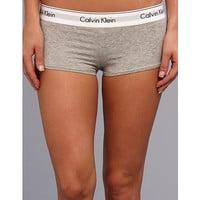 Calvin Klein Underwear Modern Cotton Boyshort Grey Heather - Zappos.com Free Shipping BOTH Ways
