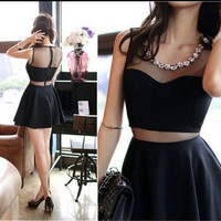 Fashion Women's Sleeveless Backless Mini Dress Short Ball Prom Evening Party = 1947043780
