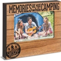 Memories are made while Camping Picture Photo Frame