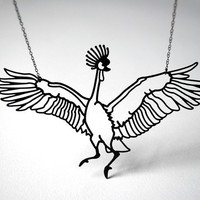 NEW West African Crane Necklace by megjroberts on Etsy