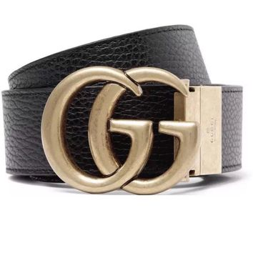 Authentic Gucci Marmont Belt. Gold Buckle- Reversible.