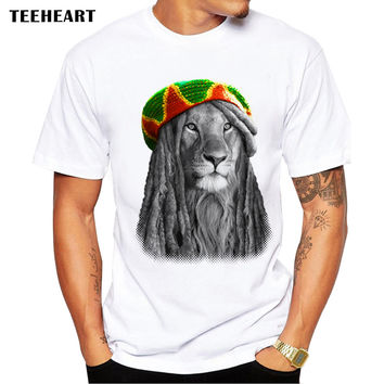 New Summer Animal Special Fashion Lion King T Shirt Men's High Quality KING Tops Male Hipster Tees