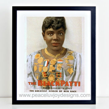 "Vintage Printable, ""Black Patti"", Paris Wall Art, Afro-American Decor, Vintage Artist, Black Wall Art, Ethnic Wall Decor, Instant Download"
