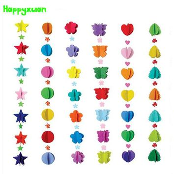 Happyxuan 6pcs/lot Diy Eva foam Hangings Curtain DIY Craft Kits Toy Kids Kindergarten Classroom Decoration Supplies Materials