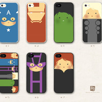 iPhone 5 hard case the cute Avengers  /choose one/ by FeerieDoll