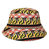 Maryland Flag Geometric Pattern / Bucket Hat