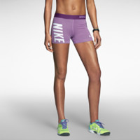 Nike Pro Core Compression Logo Women's Shorts - Bright Grape