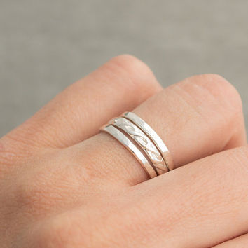 Sterling & Argentium Silver Stackable Rings