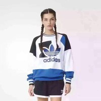 Adidas Fashion Print Long Sleeve Women Casual Sweatshirt Tops