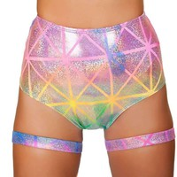 Roma Rave 3452 - Colorful High Waisted Shorts