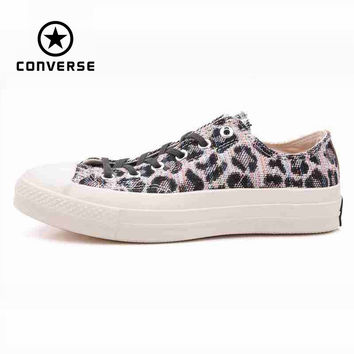 Original Converse all star men's leopard print sneakers canvas shoes for men low classic Skateboarding Shoes free shipping
