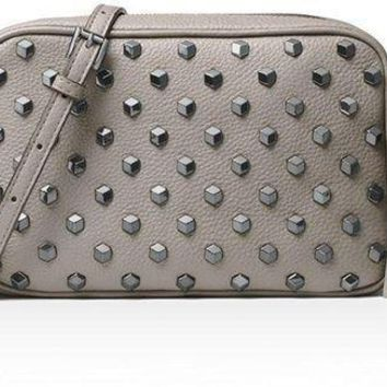 Michael Michael Kors Women's Ginny Studded Medium Leather Camera Bag