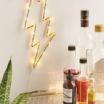 Lightning Bolt Light Sculpture | Urban Outfitters