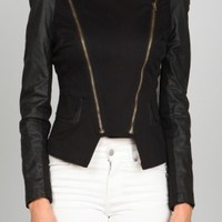 Ark & Co., Double Zipper Biker Jacket | Chic Boutique