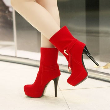 Fashion High Heeled Tassel Sexy Boots