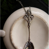 Vintage Inspired Silver Spoon Necklace by sodalex on Etsy
