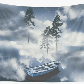 'Forest sailing' Wall Tapestry by happymelvins