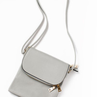 Gracie Light Grey Crossbody Bag