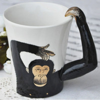 Handpainted Orangutan Ceramic Cup on Luulla