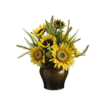 2 Artificial Flower Arrangements - Sunflower