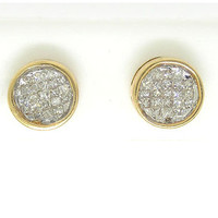 Princess Diamond Ladies Fashion Invisible Set Earrings in 14k Gold 0.5 ctw