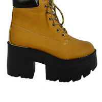 Platform Under Construction Boots - Wheat