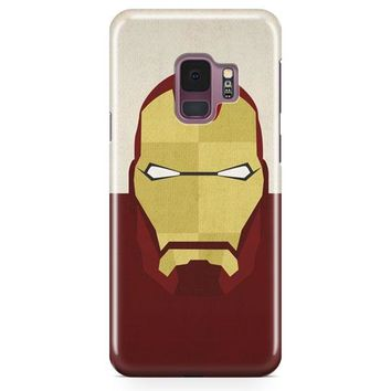 Superheroes Minimalist Iron Man Samsung Galaxy S9 Plus Case | Casefantasy