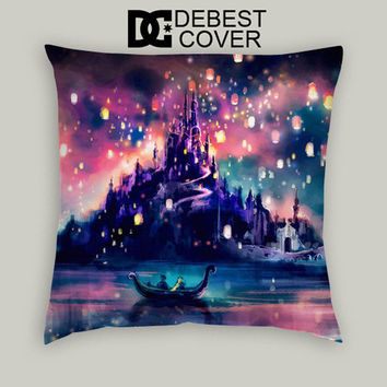 Tangled Disney The Lights Pillow Cases Square Available In 16 x 16 Inches 18 x 18 Inches 20 x 20 Inches