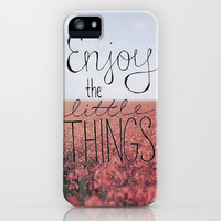 Enjoy iPhone & iPod Case by Pink Berry Pattern