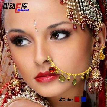 Metal Coins Indian Nose Chain Rings jewelry