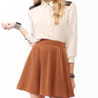 Contrast Paillette Overlay Blouse