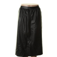 Theory Womens Gelsey Leather Solid A-Line Skirt