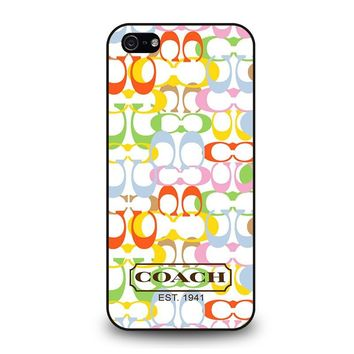COACH NEW YORK COLORFUL iPhone 5 / 5S / SE Case Cover