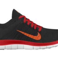 Nike Free 4.0 Flyknit iD Custom Women's Running Shoes - Red