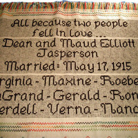 CUSTOM Afghan Anniversary Family Reunion Swedish Weave