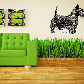 Scottish Terrier (Scottie) Dog Puppy Breed Pet Animal Family Wall Sticker Decal Mural 2885