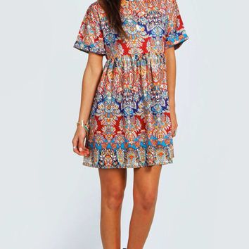 Annabelle Printed Smock Dress