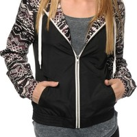 Empyre Carmen Black & Burgundy Tribal Windbreaker Jacket