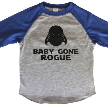 Baby Gone Rogue - Star Wars Inspired Rogue Kids Baseball Tee Boys or Girls.