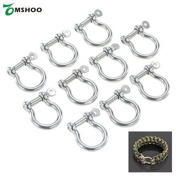 DCCK7N3 10 PCS O Shape Anchor Shackle Rope Paracord Bracelet Buckle Stainless Steel For Camping Hiking Outdoor Sports