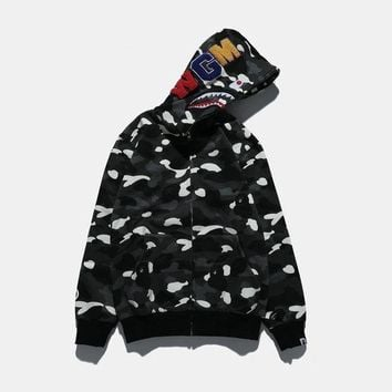 DCCK8H2 Bape Shark Casual Long-Sleeved Sweater Hooded Jacket