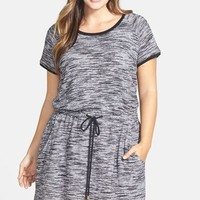 Plus Size Women's City Chic 'Athletic' Terry Tunic Dress,