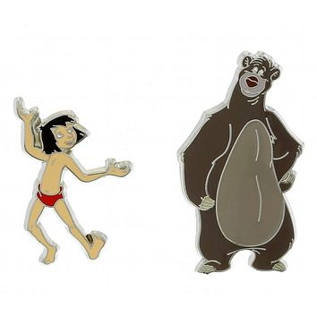 Disney Parks Baloo and Mowgli Pin Set New with Card