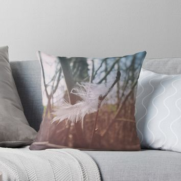 'Soft Hello' Throw Pillow by Karen Stahlros