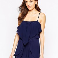BCBG Generation Off Shoulder Playsuit With Ruffles