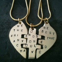 You Complete Me Puzzle Pendant best friends forever