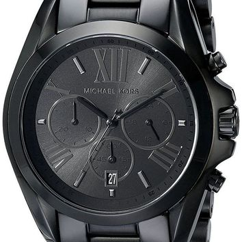 DCCKRQ5 Michael Kors Men's Bradshaw Blacktone Chronograph Watch