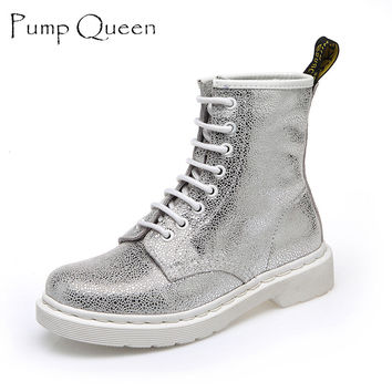 Fashion White Pink Boots Women Punk Boot Shoes 2016 New Arrival Super Cool Boots For Women Bota Feminina Zapatos Mujer