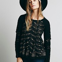 Free People Womens FP New Romantics Heavy Metal Top