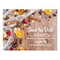 Rustic Christmas Festive Holiday Party Postcard
